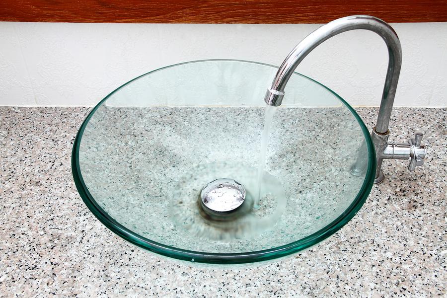 Glas Waschbecken